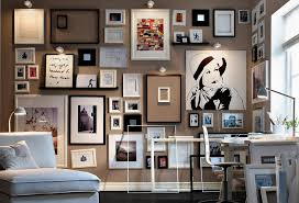 Hanging Wall Lights Bedroom Amazing Salon Style Wall Decoration Ideas Featuring Multiple Frame