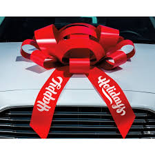 car bow ribbon printed 30 magnetic car bow happy holday