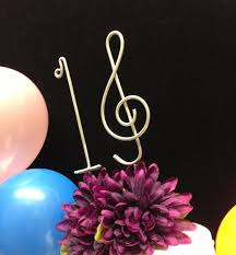 sweet 16 musical cake topper sixteen birthday by allegroart