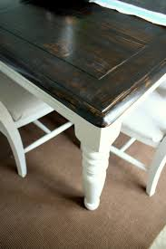 Painted Dining Table by Refinishing The Dining Room Table Shannon Claire