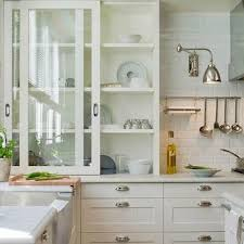 Glass Kitchen Doors Cabinets Sliding Glass Kitchen Cabinets Design Ideas
