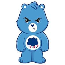 amazon care bears grumpy bear vynil car sticker decal
