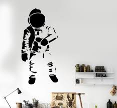 astronaut wall mural promotion shop for promotional astronaut wall removable hot astronaut art wall decal modern home wall sticker vinyl mural decal gw 46