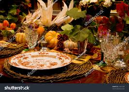 thanksgiving table setting stock photo 21231238