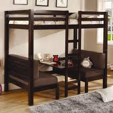 bunk bed with sofa underneath bunk bed with desk for adults creative desk decoration
