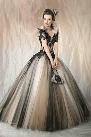 two color wedding dress vintage black non white two tone tulle wedding dresses