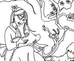 mulan coloring pages kids coloring