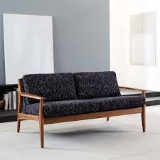 Sofa Wood Frame Mathias Mid Century Wood Frame Loveseat 66