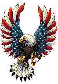 Eagles Flag Screaming American Flag Bald Eagle Decal Nostalgia Decals