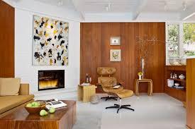 painting paneling ideas living room midcentury with artwork brick