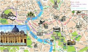 best tourist map of map of tourist attractions in rome usa maps us country maps