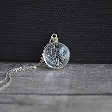 real silver necklace images Preserved real leaf skeleton sterling silver necklace the earth jpg
