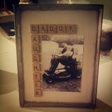 diy home decor gifts j s father s day gift scrabble tile art in antique frame diy