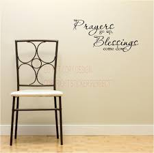 Blessings Home Decor by Prayers Go Up Blessings Come Down Wall Quote Religious Vinyl