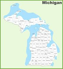 Map Of Michigan Lakes Michigan County Map