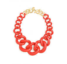 red fashion necklace images Zenzii red chunky chain link resin necklace chic24hours jpg
