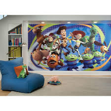 toy story 3 chair rail prepasted mural 6 ft x 10 5 ft ultra