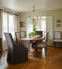 Dining Room With Fireplace by Gray Dining Chairs Dining Room Farmhouse With Stone Fireplace Wood