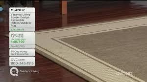 veranda living 8x10 reversible border design indoor outdoor rug