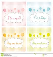 Babyshower Invitation Card Pack Baby Shower Invitation Card Template Stock Illustration