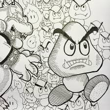 one sketch per day number 48 super mario bad guys step 2