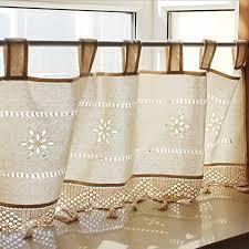 Lace Curtains Amazon Burlap And Lace Curtains Amazon Com