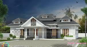 sloping roof modern house with 4 bedrooms kerala home design and