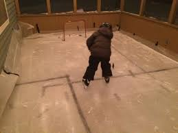 i built a ice rink in my screened in porch my 4yr old loves it
