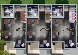 8 Unit Apartment Building Floor Plans Mod The Sims Nona 10x15 3 Unit Apartment Building No Cc Store