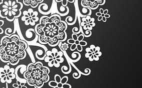 famous black and white design white pattern on black wallpapers
