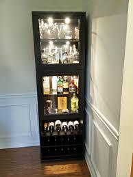 corner bar cabinet black cool high square shaped black corner bar cabinet with lighting on