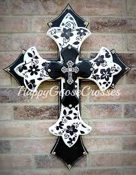 wall crosses for sale happy goose cross etsy handmade wall cross for sale black and