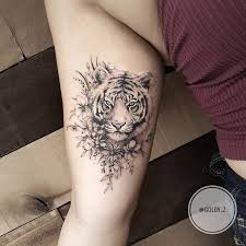 best 25 tiger tattoo thigh ideas on pinterest tiger tattoo