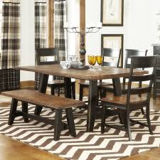 kitchen table sets with bench tables chairs black butcher block