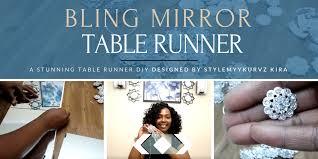 bling mirror table runner by stylemykurvz kira