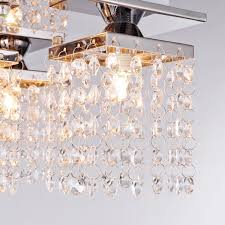 Modern Living Room Ceiling Lights by Lightinthebox Crystal Ceiling Light With 5 Lights Electroplated