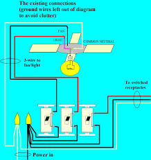 fan and light switch wiring ceiling fan with light and remote control wiring amazing converting