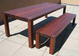 Outdoor Dining Set With Bench Exteriors Surprising Outdoor Wooden Table And Bench Set For Wood