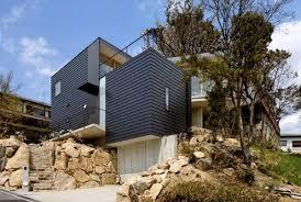 sloping house plans uncategorized hillside lake house plan amazing for amazing ba