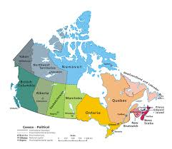 states canada map provinces and territories of canada