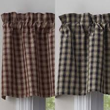 Country Plaid Valances This Just In Town And Country Window Treatments From Park Designs