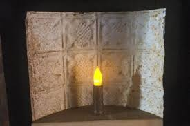 tin home decor primitive old antique punch tin candle holder home decor primitive