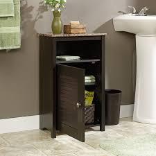 bathroom floor cabinet with shelf and faux granite top benevola