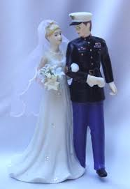 marine wedding cake toppers corps
