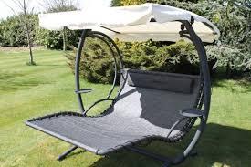 olive grove textoline u0026 steel 2 person bed style garden hammock