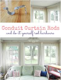 Window Curtain Rod Brackets Pvc Conduit Curtain Rods And Diy Rod Hardware