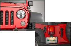 jeep jk led tail light bulb quadratec gen ii led headlights with led tail light kit for 07 18