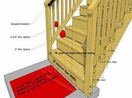 Interior Handrail Height Handrail Height For Stairs On A Deck Deck Handrail Height Deck