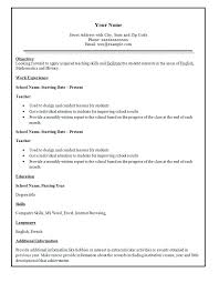 Samples Of Simple Resumes by Simple Resume Samples Resume Templates
