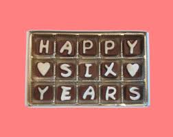 6 year anniversary gift ideas for six year anniversary etsy